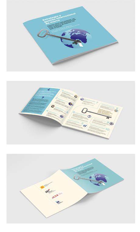 Díptico informativo sobre como lanzar tu marca a nivel internacional (Cliente 5cero2)