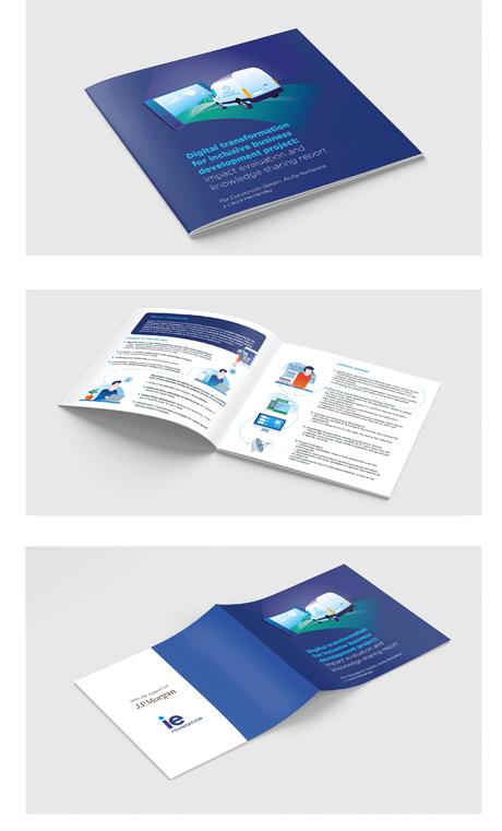 Díptico informativo sobre cursos dirigido a pequeñas empresas que quieren iniciarse en la venta online (Cliente 5cero2)