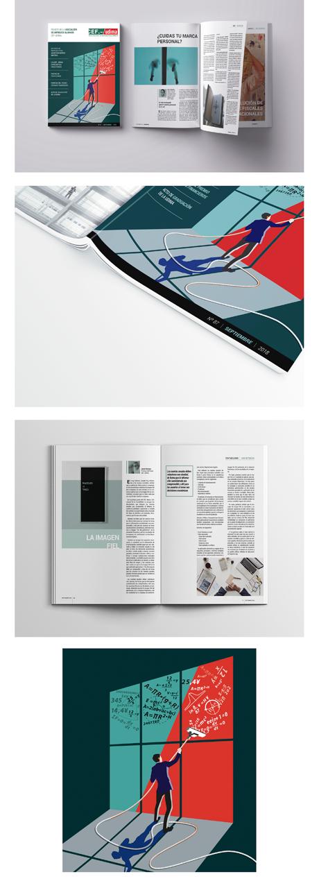 Diseño de nueva imagen y maquetación para la revista de Antiguos Alumnos de la Universidad a distancia